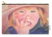 Girl In Straw Hat Carry-all Pouch by Julie Brugh Riffey