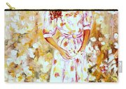 Girl In The Flower Garden Westmount Quebec Summer City Scene  Carry-all Pouch