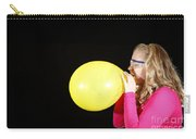 Girl Inflating Balloon Carry-all Pouch