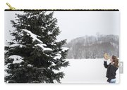 Girl Measuring Tree Height Carry-all Pouch