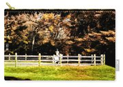 Girl Riding Horse Carry-all Pouch