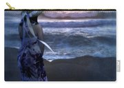 Girl Watching The Sun Go Down At The Ocean Carry-all Pouch