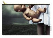 Girl With A Baby Doll Carry-all Pouch by Joana Kruse