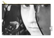 Girl With A Rose Veil 3 Bw Carry-all Pouch