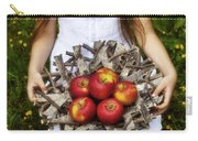 Girl With Apples Carry-all Pouch
