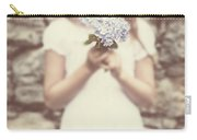 Girl With Hydrangea Carry-all Pouch