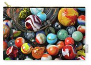 Glass Jar And Marbles Carry-all Pouch by Garry Gay