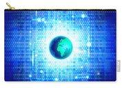 Globe With Technology Background Carry-all Pouch by Setsiri Silapasuwanchai