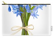 Blue Wildflower Bouquet Carry-all Pouch