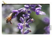 Glowing Bee In Purple Flowers Carry-all Pouch