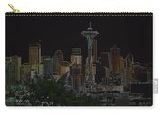 Glowing Seattle Skyline Carry-all Pouch