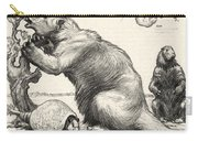 Glyptodon And Megatherium, Extinct Fauna Carry-all Pouch
