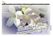 God Bless You On Your Confirmation Floral Greeting Card Carry-all Pouch