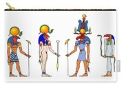 Gods And Goddess Of Ancient Egypt Carry-all Pouch by Michal Boubin
