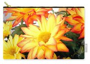 Gold And Red Autumn Mums Carry-all Pouch