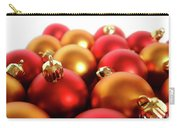 Gold And Red Xmas Balls Carry-all Pouch by Carlos Caetano