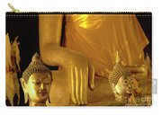 Gold Buddha Figures Carry-all Pouch