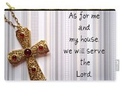 Gold Cross Carry-all Pouch by Cynthia Amaral