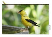 Gold Finch At The Bird Bath Carry-all Pouch