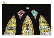 Gold Stained Glass Window Carry-all Pouch