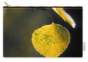 Golden Aspen Leaf Carry-all Pouch