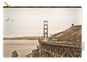 Golden Gate Bridge In Sepia Carry-all Pouch