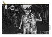 Golden Girls Of Bourbon Street - Black And White Carry-all Pouch