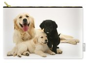 Golden Retriever And Puppies Carry-all Pouch by Jane Burton