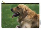 Golden Retriever Dog Laying In The Grass Carry-all Pouch