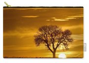 Golden Sunrise Silhouette Carry-all Pouch