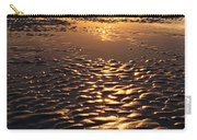 Golden Sunset On The Sand Beach Carry-all Pouch by Setsiri Silapasuwanchai