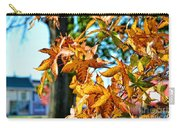 Golden Sweetgum Leaves Carry-all Pouch
