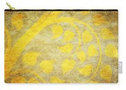 Golden Tree Pattern On Paper Carry-all Pouch