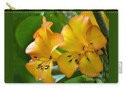 Golden Tropical Flowers Carry-all Pouch