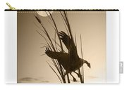 Goose At Dusk - Sepia Carry-all Pouch