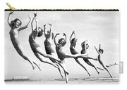 Graceful Line Of Beach Dancers Carry-all Pouch