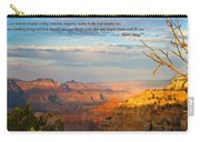 Grand Canyon Splendor - With Quote Carry-all Pouch