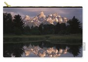 Grand Teton Range And Cloudy Sky Carry-all Pouch