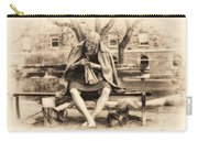 Granny Sitting On A Bench Knitting Ursinus College Carry-all Pouch