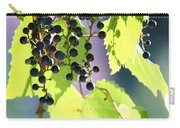 Grapes And Leaves Carry-all Pouch