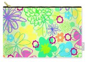 Graphic Flowers Carry-all Pouch by Louisa Knight