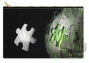 Grass Jigsaw Globe Carry-all Pouch