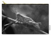 Grasshopper And Grunge In Black And White Carry-all Pouch