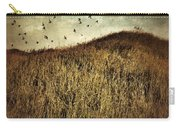 Grassy Hill Birds In Flight Carry-all Pouch