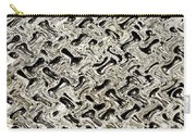 Gray Abstract Swirls Carry-all Pouch