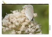 Gray Hairstreak Butterfly On Milkweed Wildflowers Carry-all Pouch