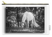 Grazing In Black And White Carry-all Pouch