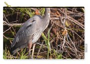 Great Blue Heron And Turtle Carry-all Pouch