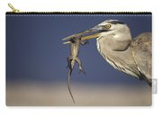 Great Blue Heron Ardea Herodias Preying Carry-all Pouch