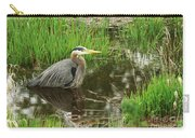 Great Blue Heron At The Marsh Carry-all Pouch